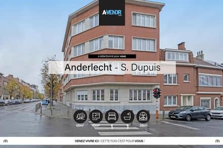 Apartment<span>45</span>m² for rent Anderlecht