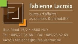 Fabienne Lacroix, agence immobiliere Huy