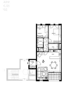 Apartment<span>101</span>m² for rent