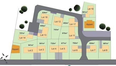 Land<span>752</span>m² for rent Helecine